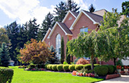 Image of a professionally residential landscape