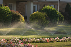 Commercial sprinkler systems services by Grand Rapids Landscape Management
