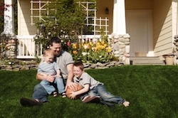Residential lawn maintenance services for your home by Grand Rapids Landscape Management