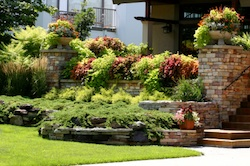 Residential landscape construction services by Grand Rapids Landscape Management