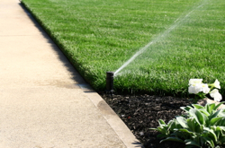 Installation of residential lawn sprinkling system
