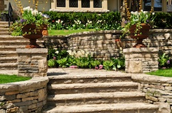 hardscape design and construction services by Grand Rapids Landscape Management