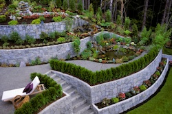 Home landscape construction services by Grand Rapids Landscape Management